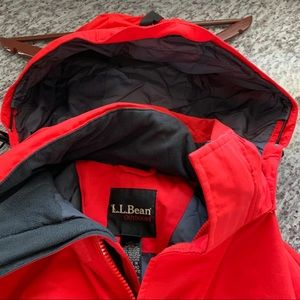 Men's Regular Large LL Bean Winter Jacket Red